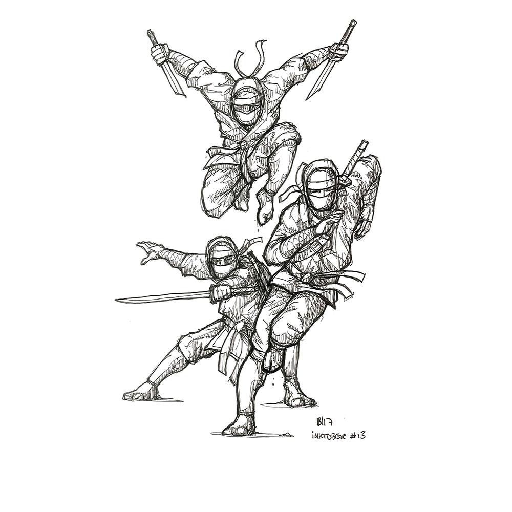 Inktober day 13. More ninjas!