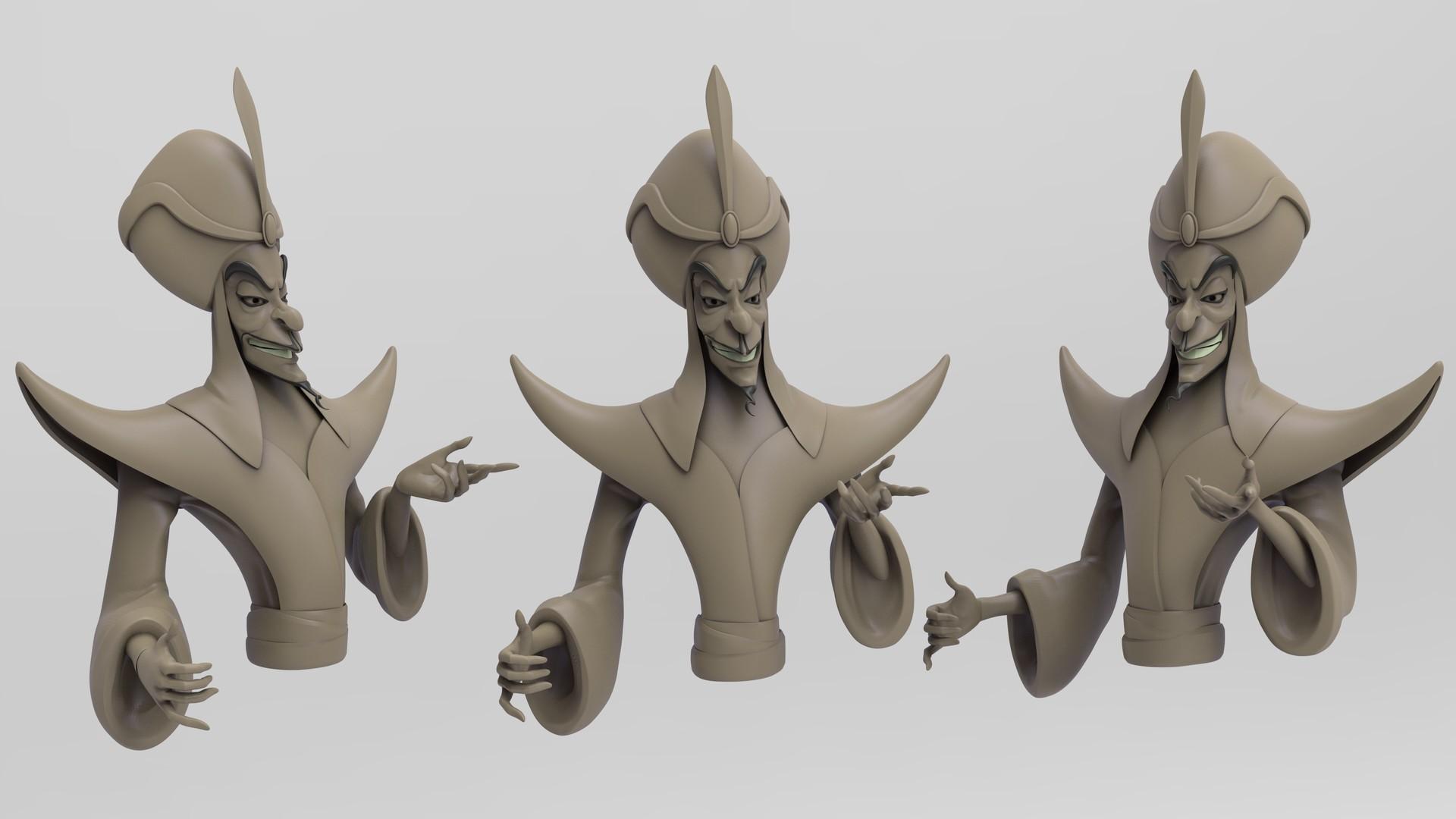Keyshot render - bust detail