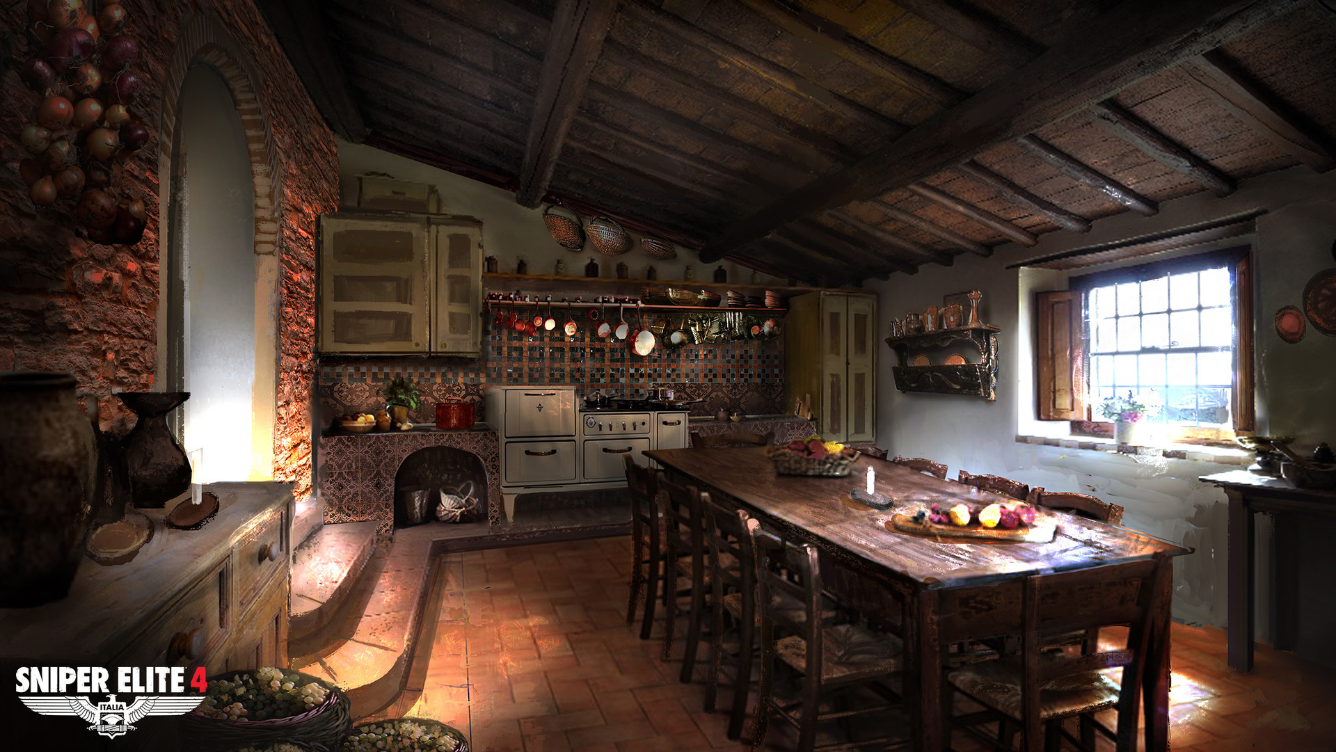 Jack eaves mountain forest village interior kitchen