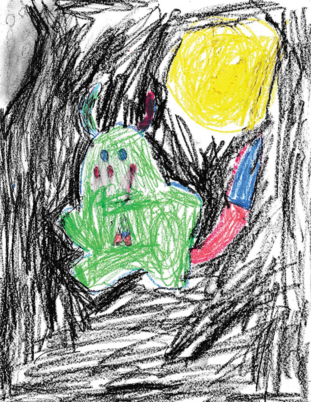 Reagan's original monster drawing