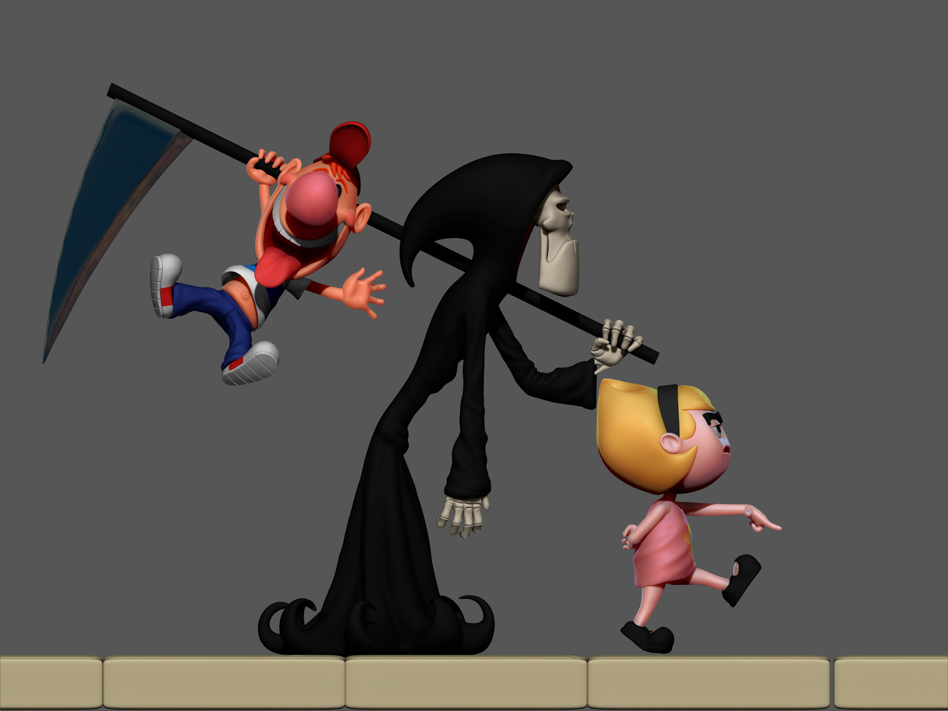 Artstation The Grim Adventures Of Billy Mandy Halloween 3d