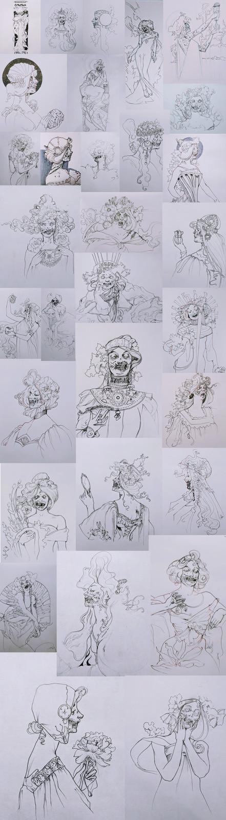Inktober 2017 - Zombie Nouveau