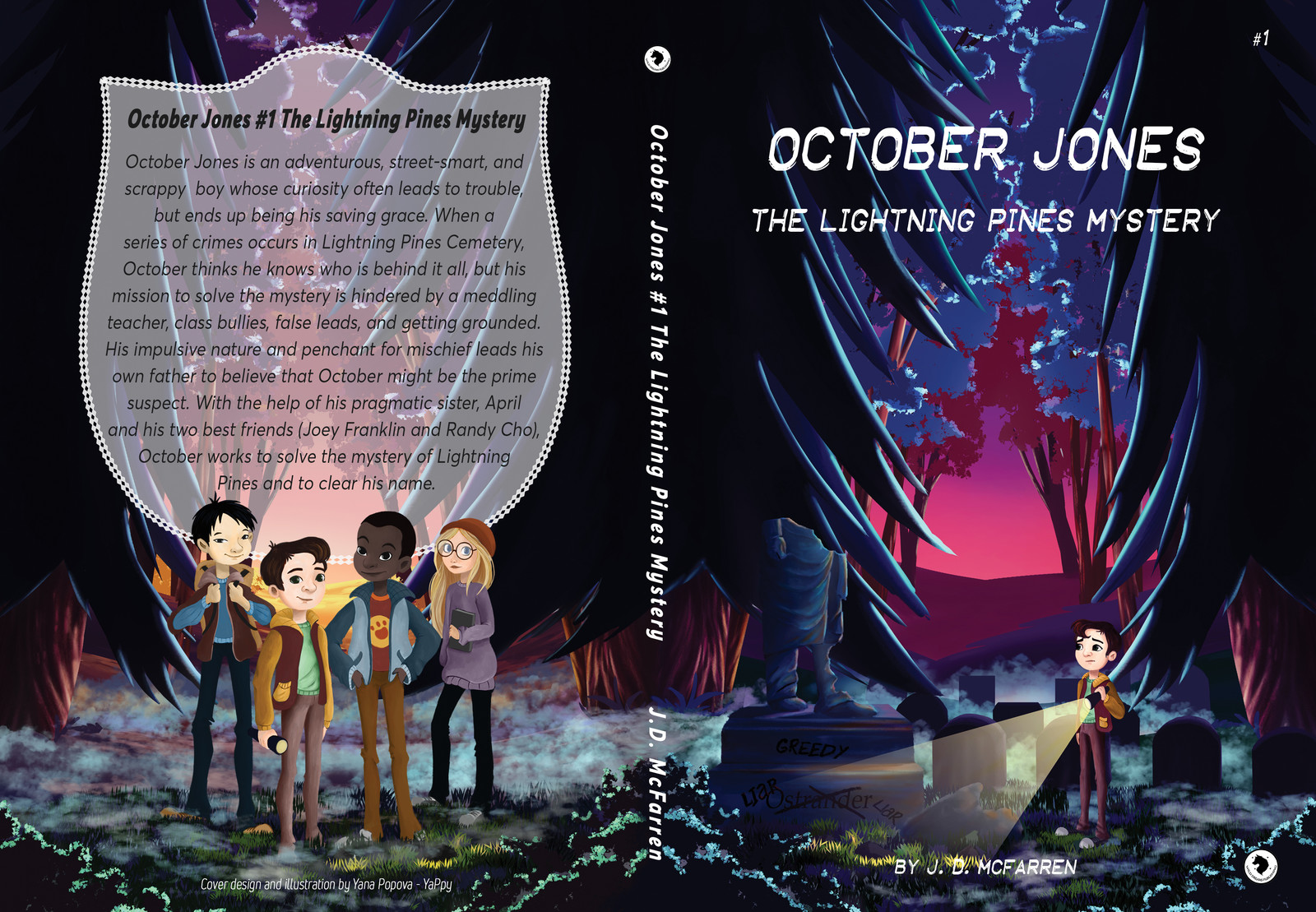 October Jones The Lightning Pines Mystery book cover