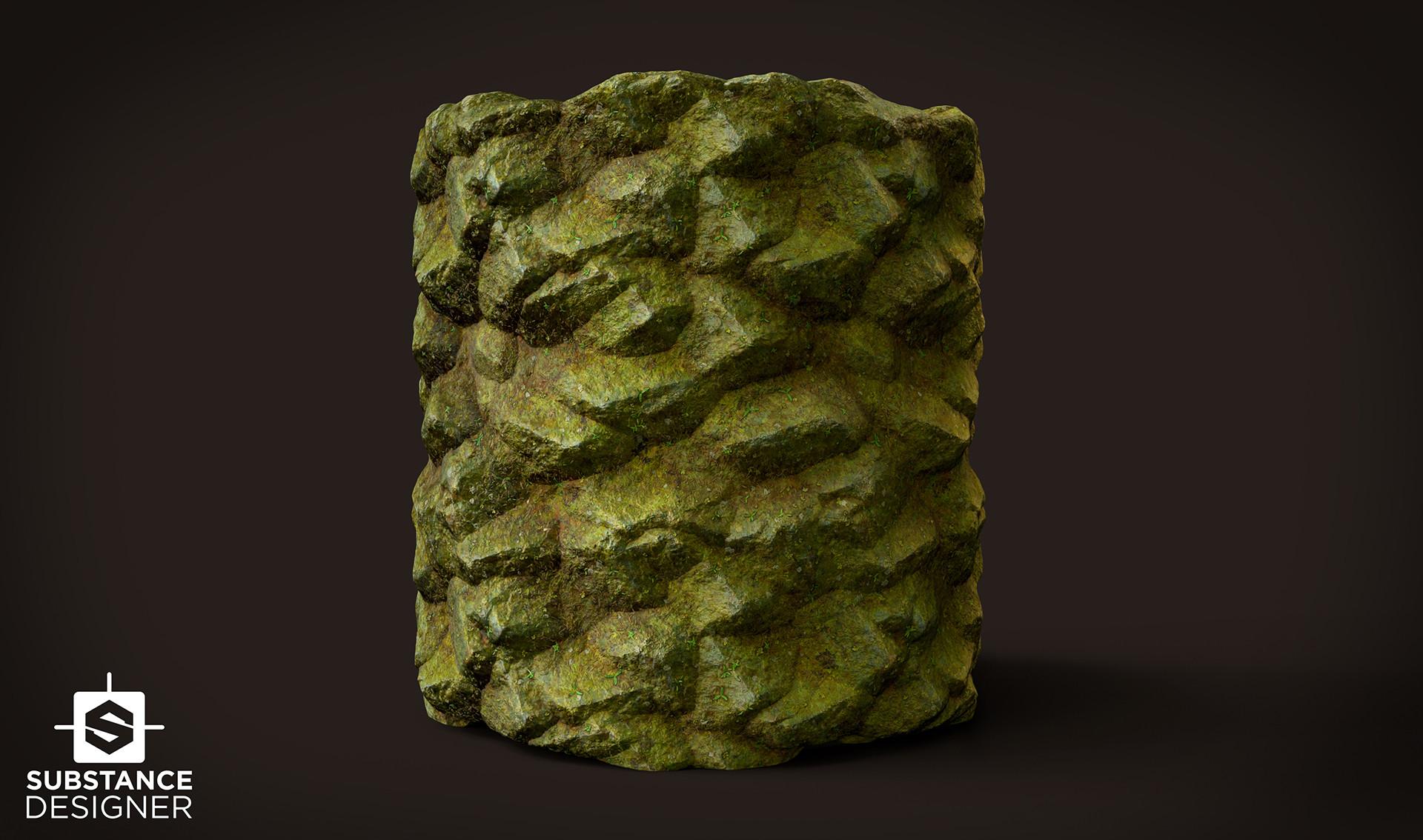 David decoster decoster forest rocks tile
