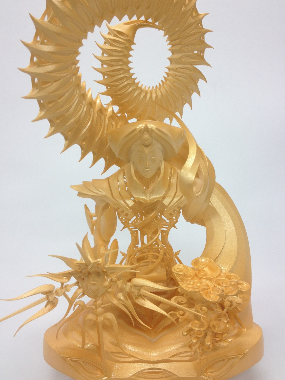 """Bhaisajyaguru"" 3D printed.  supported by DMM.make"