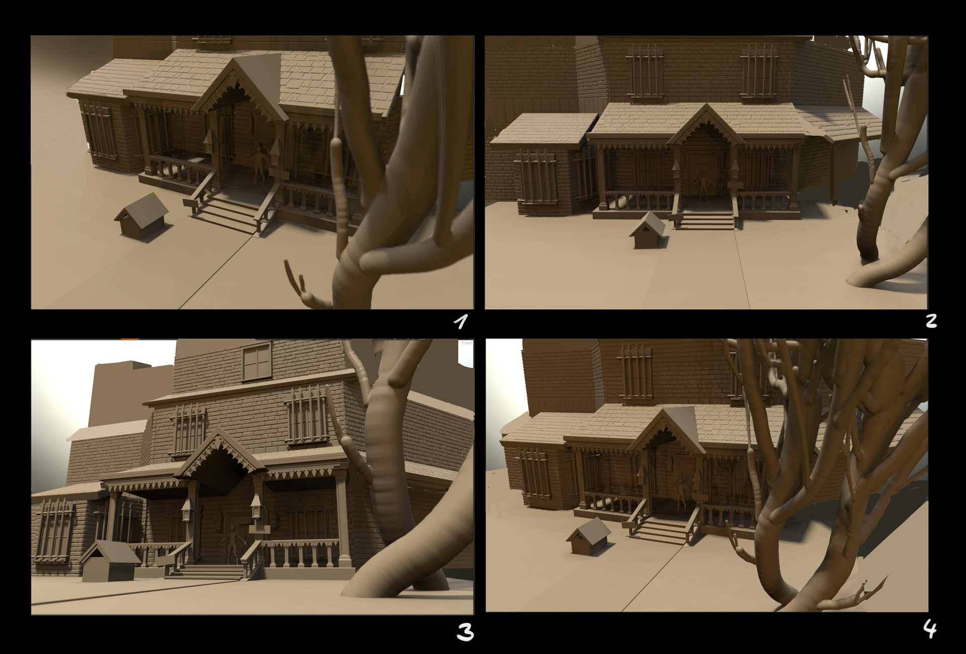 3d concept / camera angle test / paralax test