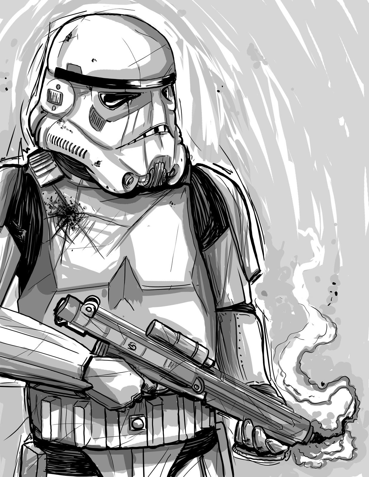 Stormtrooper Battle Damaged