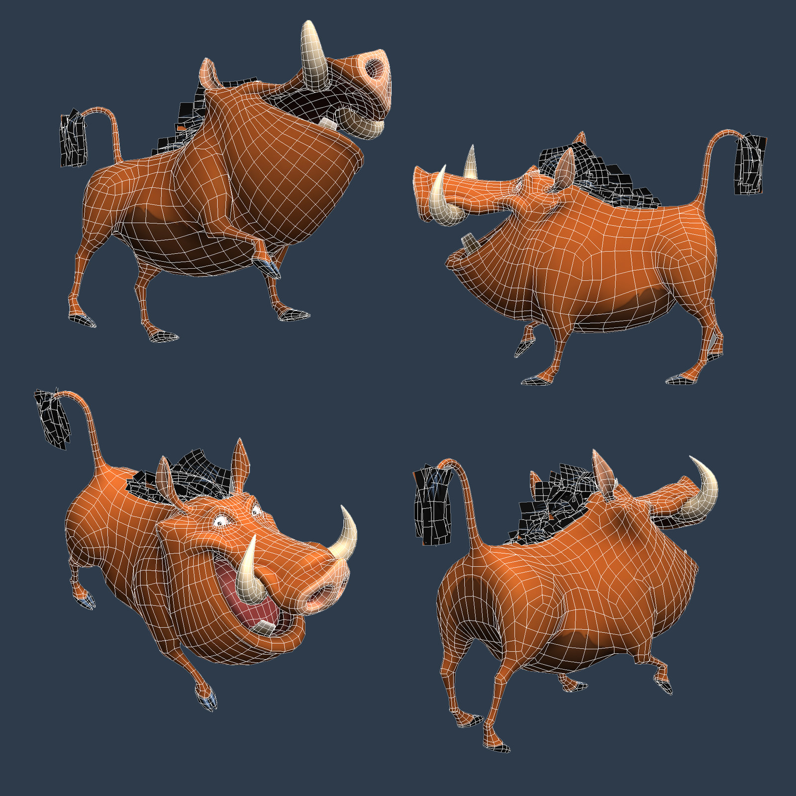 Wireframe - Lowpoly