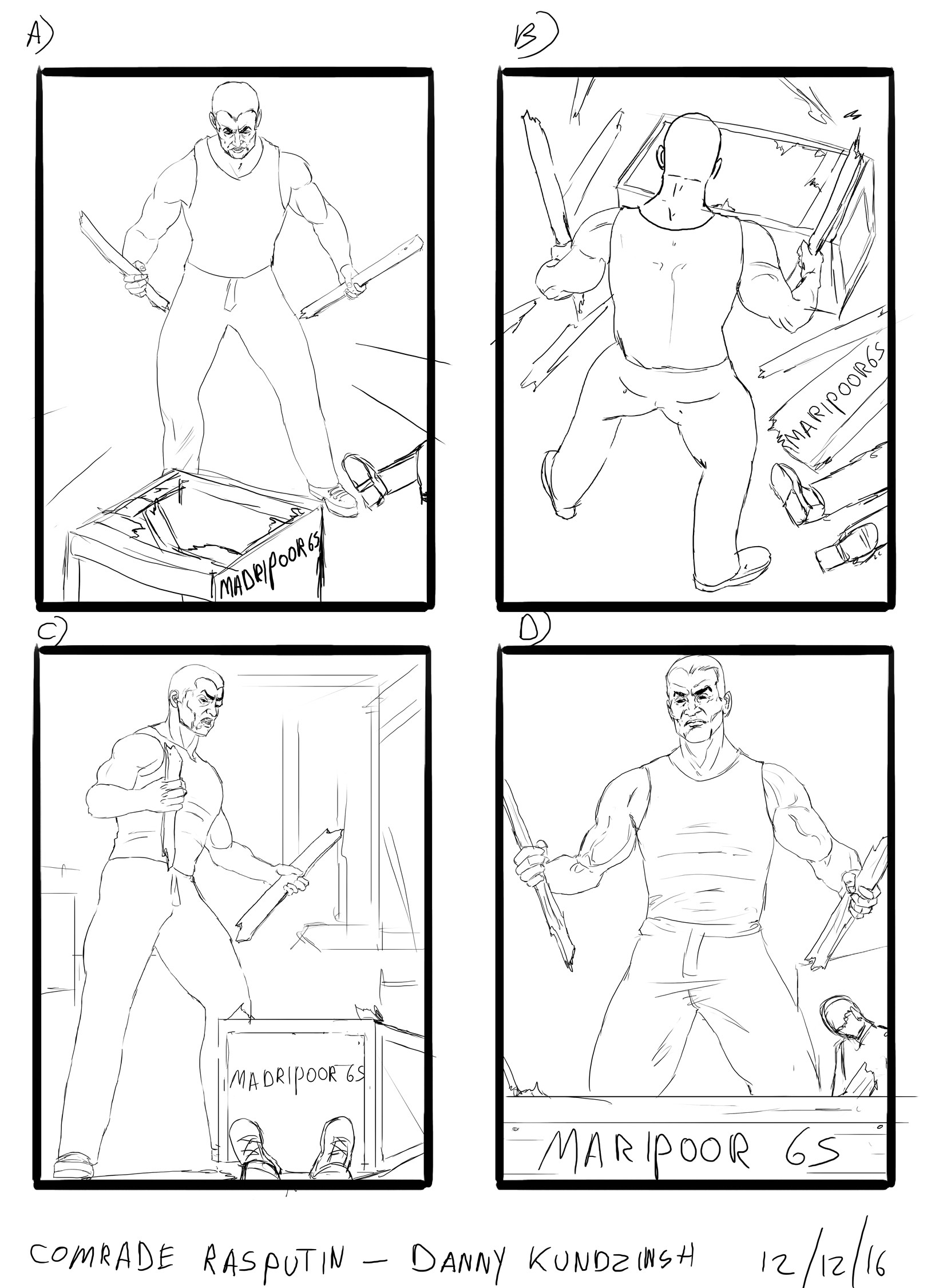 Danny kundzinsh comrade rasputin sketches