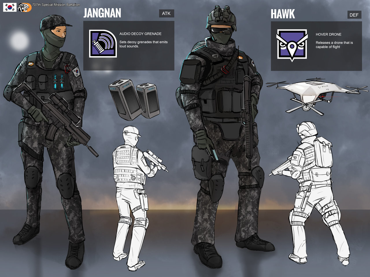 ArtStation - Rainbow 6 Siege (fanmade operators), Russell Ng