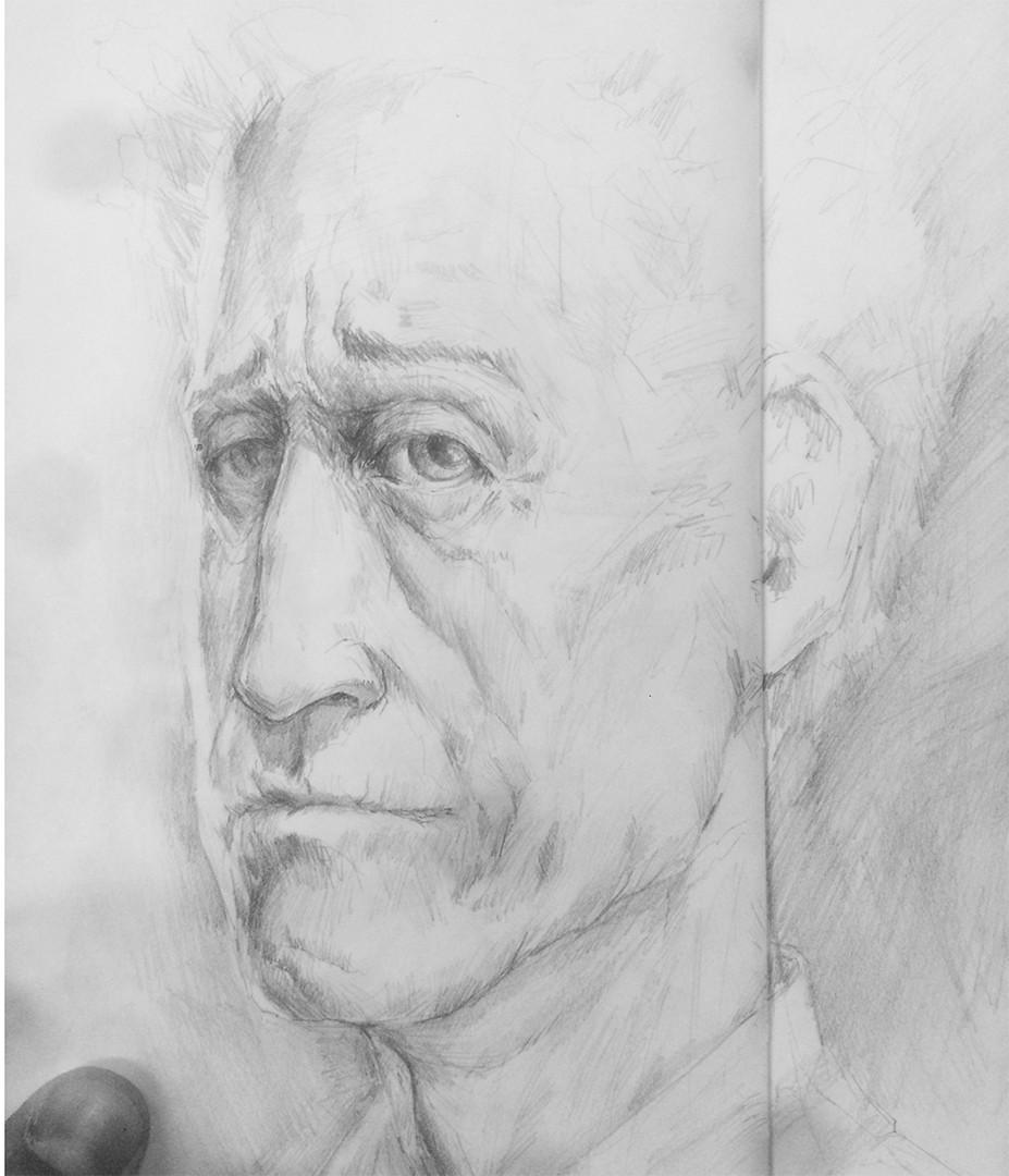 Pencil sketch base