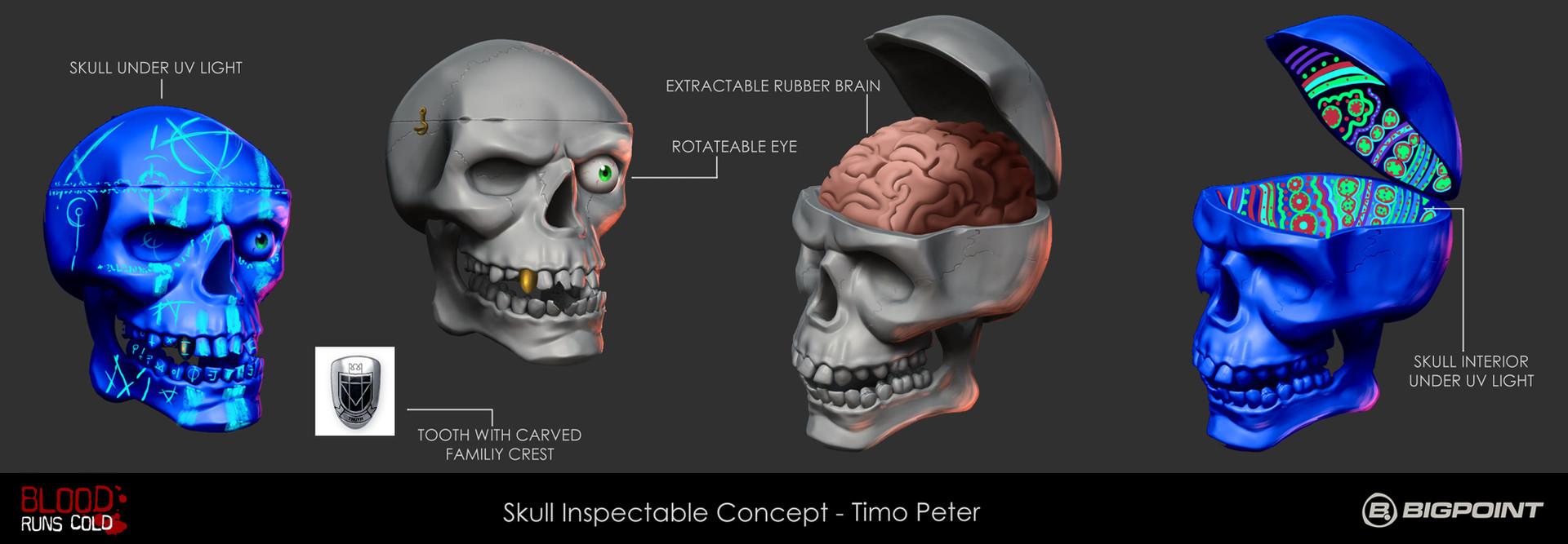 Skull - Inspectable: Skull sculpt provided by Vincent Menier
