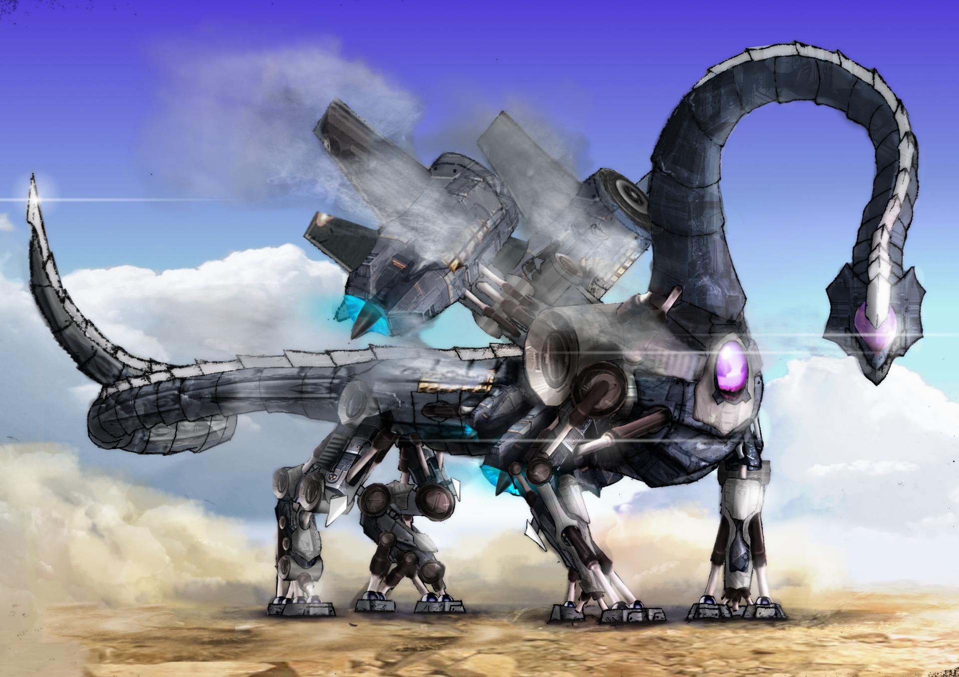 artstation robot dragon willie macfarlane