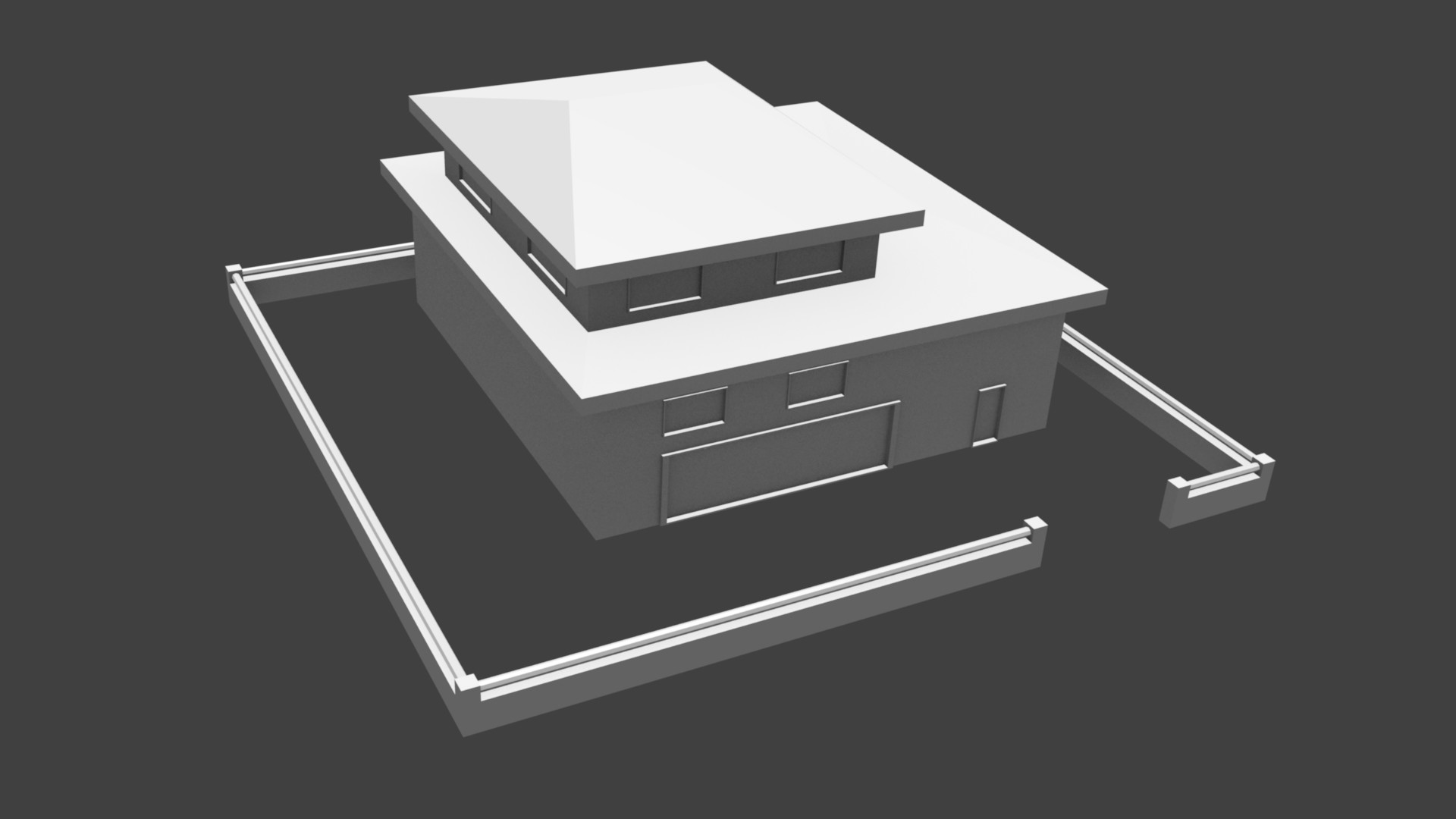 The rendered mesh without textures.