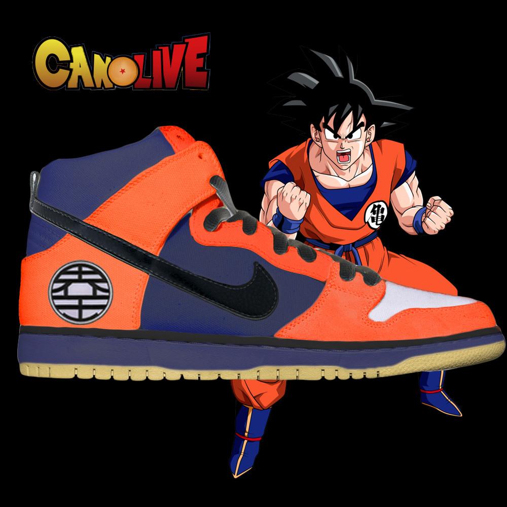 Goku Dragonball Z Nike SB Dunk High Custom