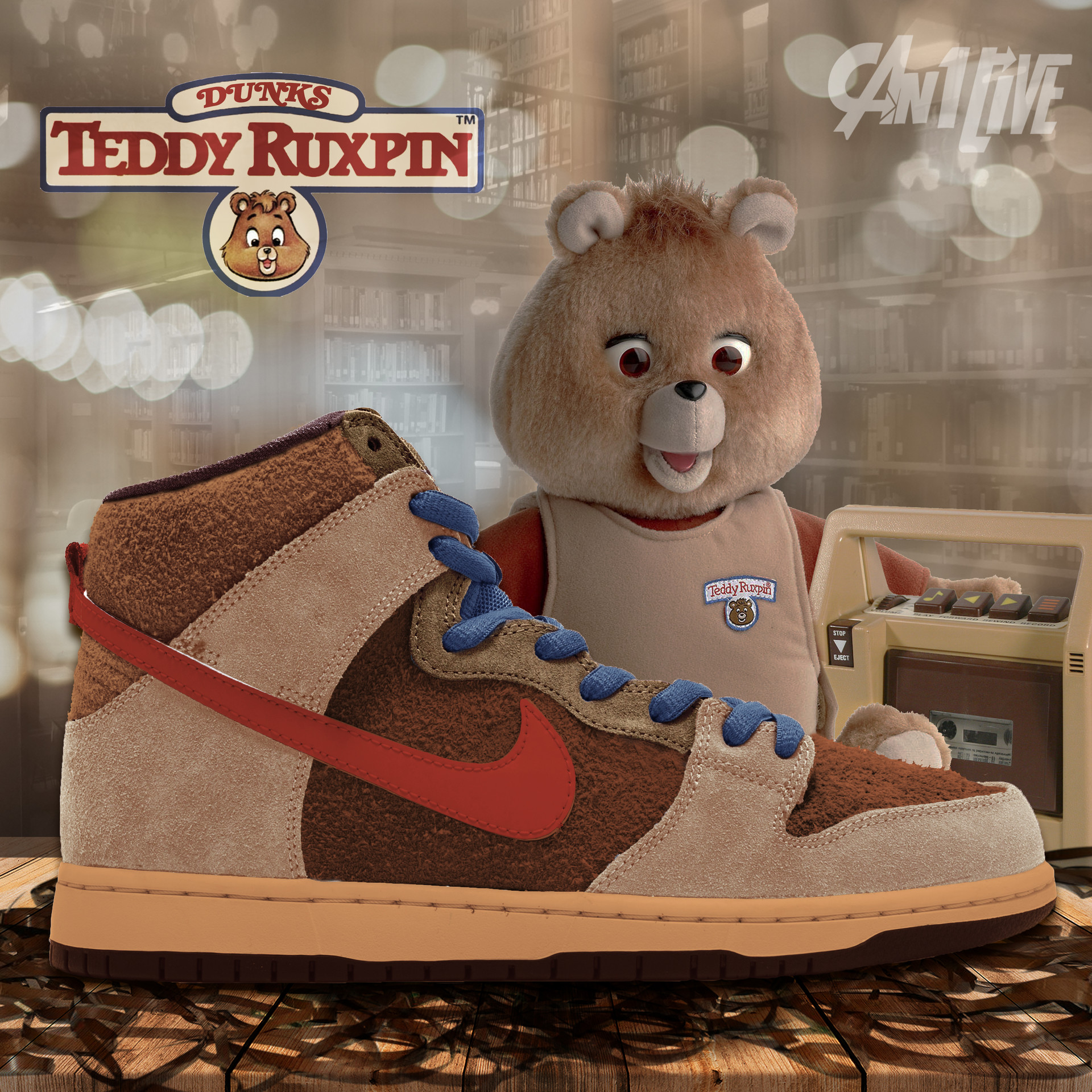 Hunter george teddy ruxpin dunk high