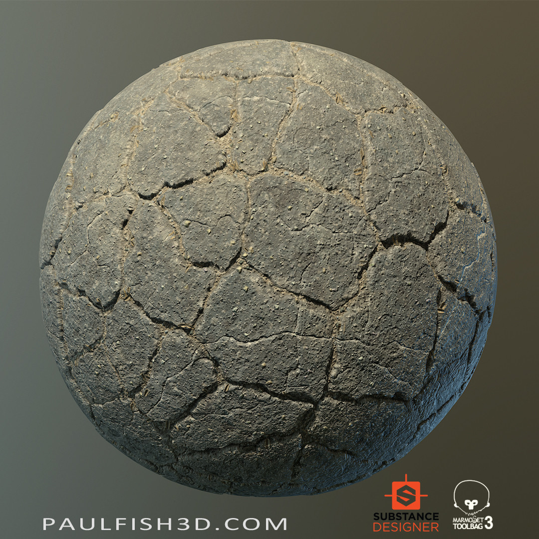 Substance Designer - Old Broken Asphalt