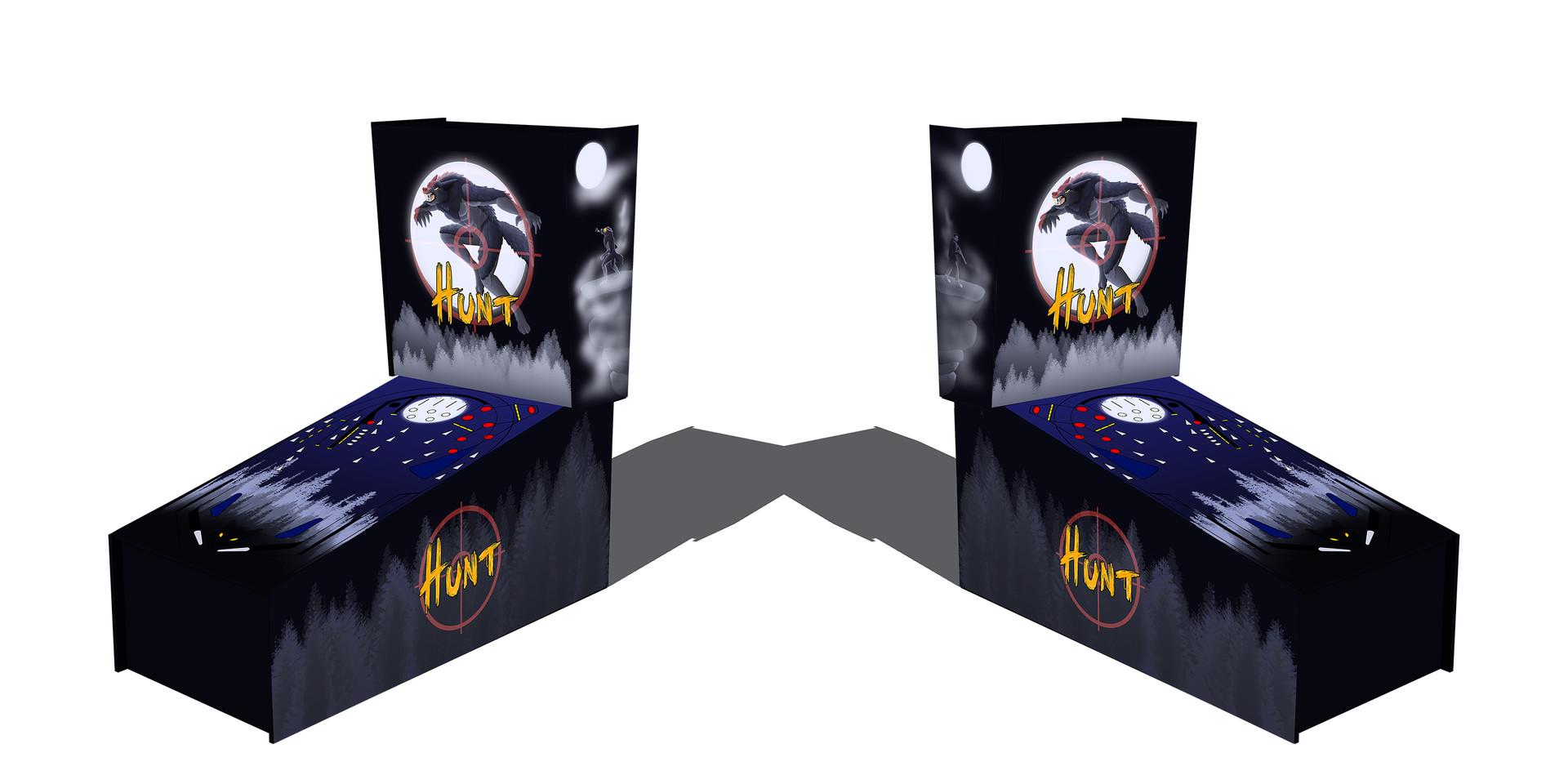 ArtStation - HUNT - Werewolf-themed Pinball Machine assets