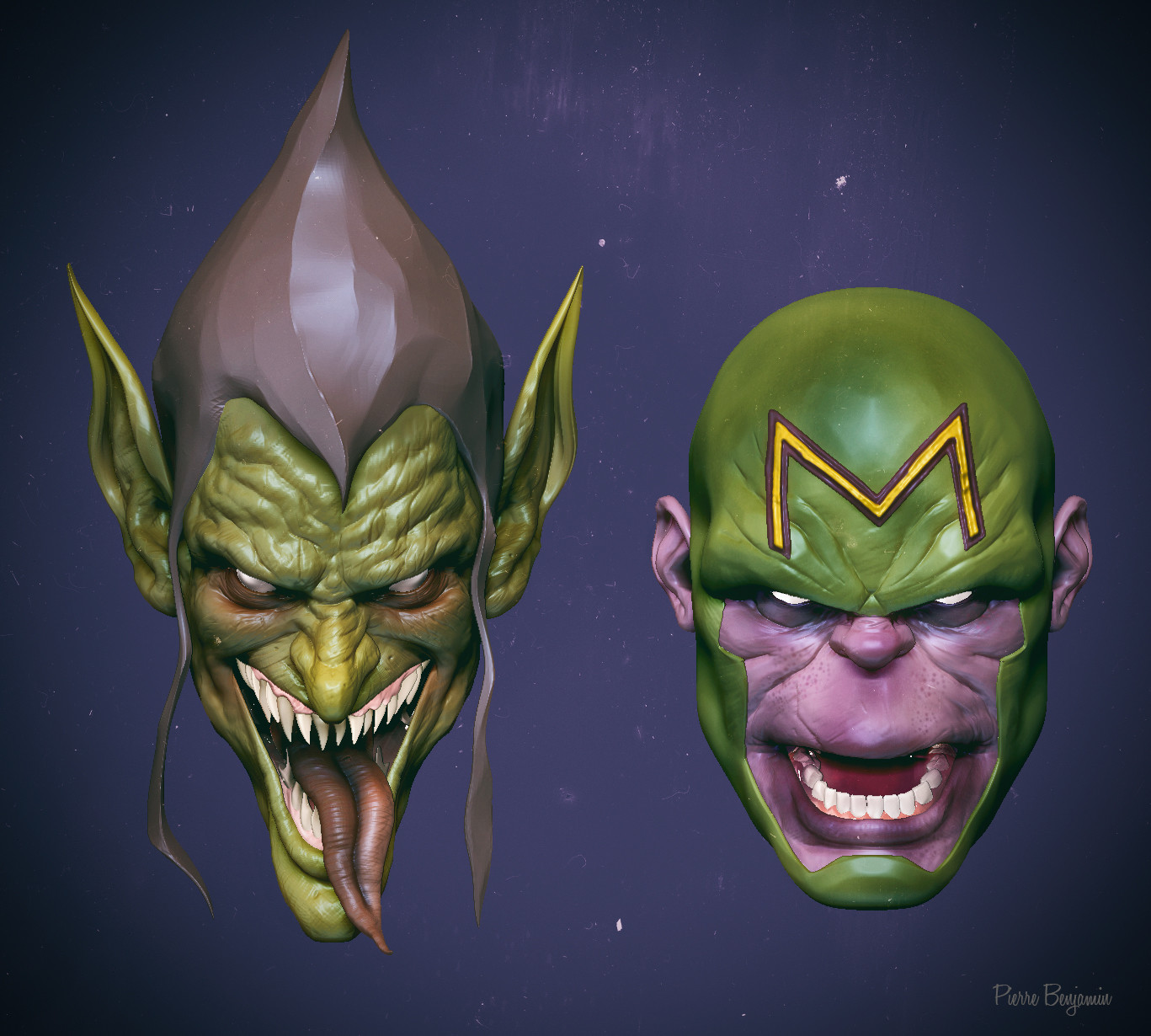 Green goblin & Maul wildcats 3D speed sculpt  inspired on a concept by Ben Oliver