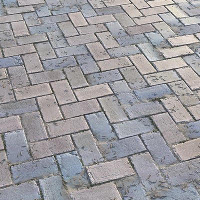 City Herringbone Bricks