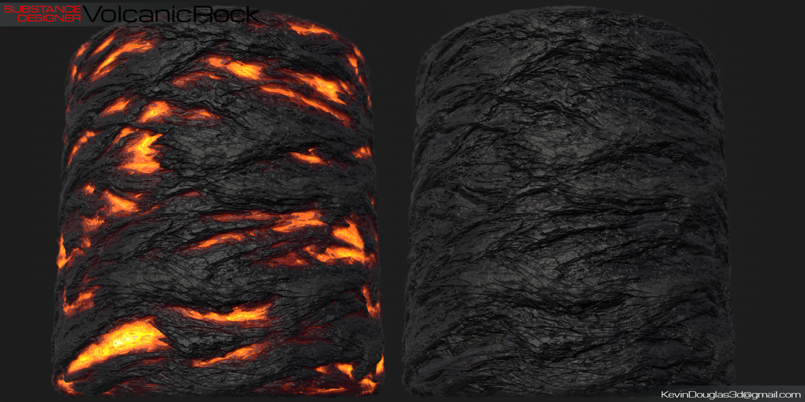 Lava and rock