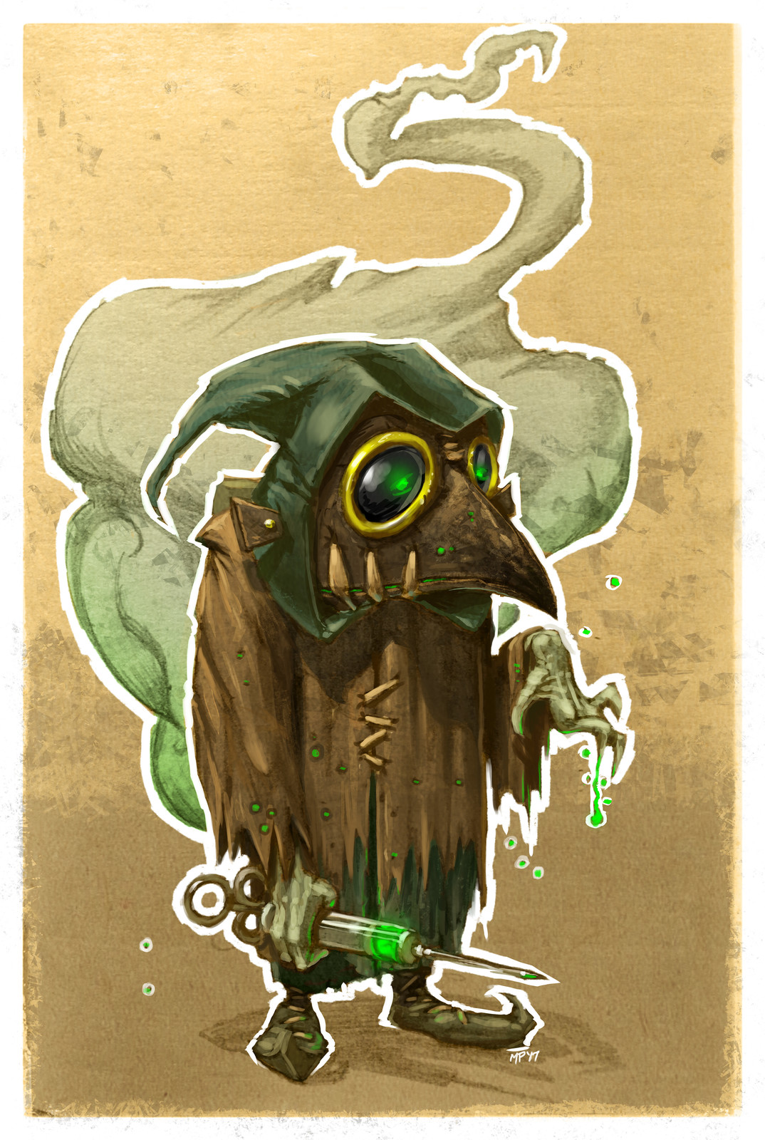 36/52 Weekly Painting- Plague Doctor