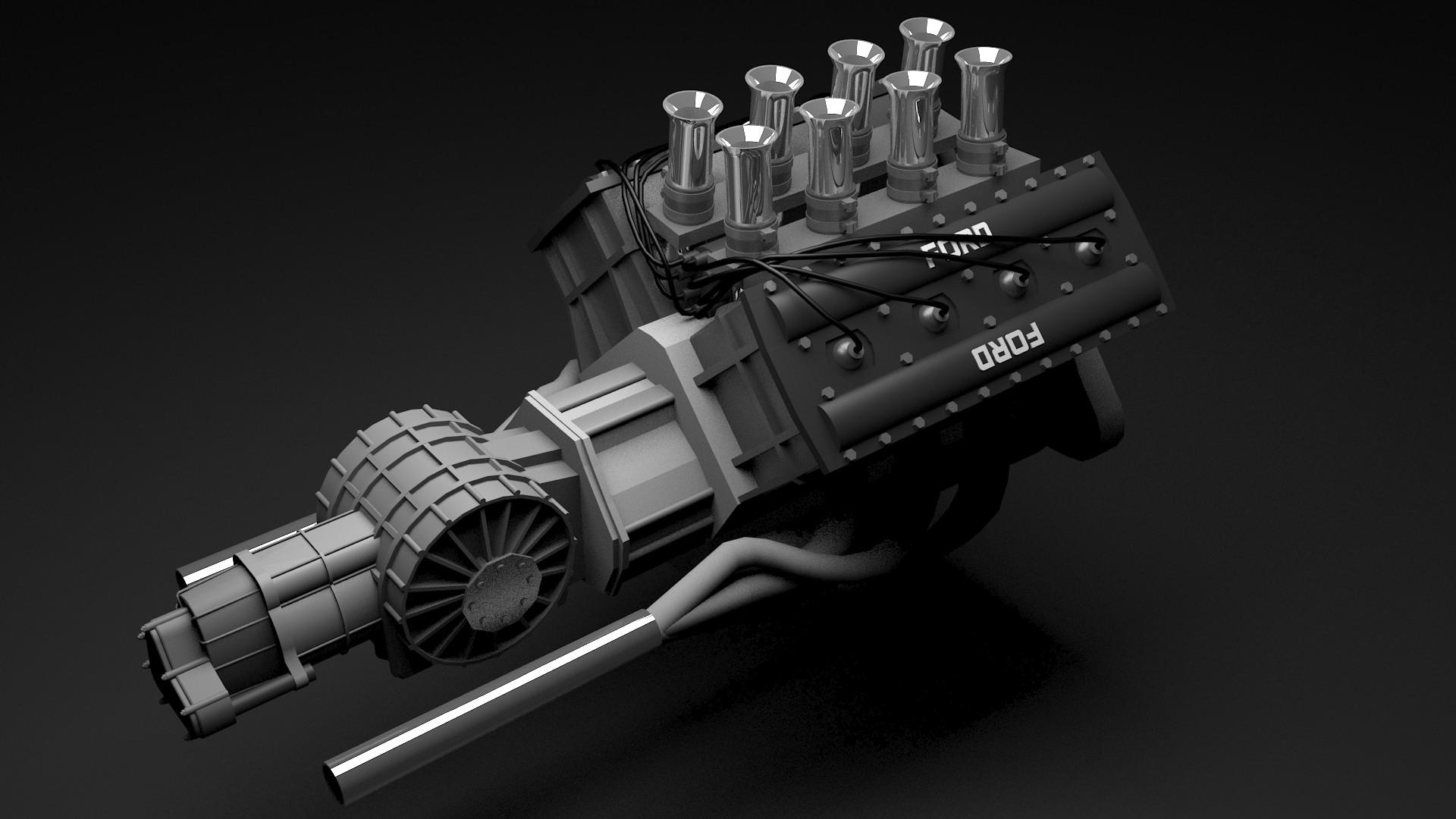 ArtStation - 1977 Ford Cosworth DFV engine, Arek Jarocki