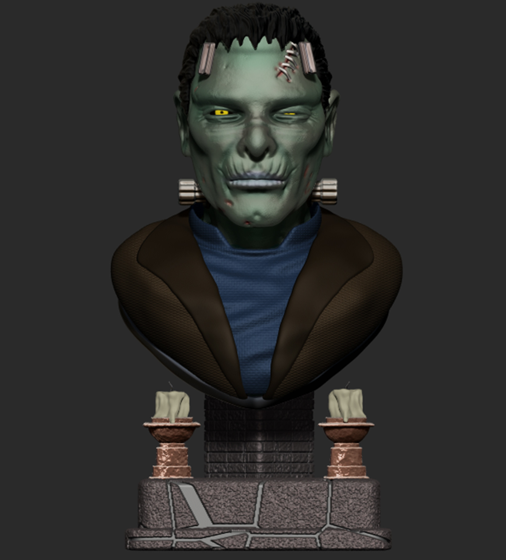 Josh simon frankenstein bust final