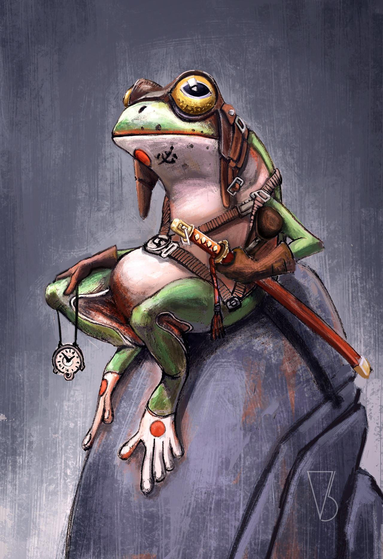 Artstation Samurai Frog Vincent Belbari