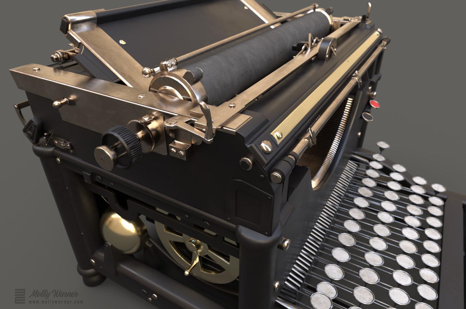 Molly warner iray render typewriter detail 2 final