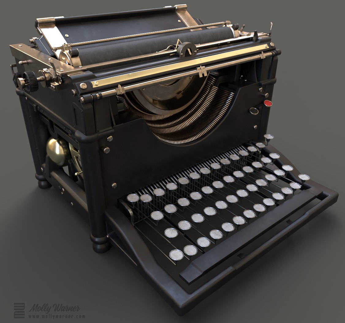 Molly warner iray render typewriter corner 1 final
