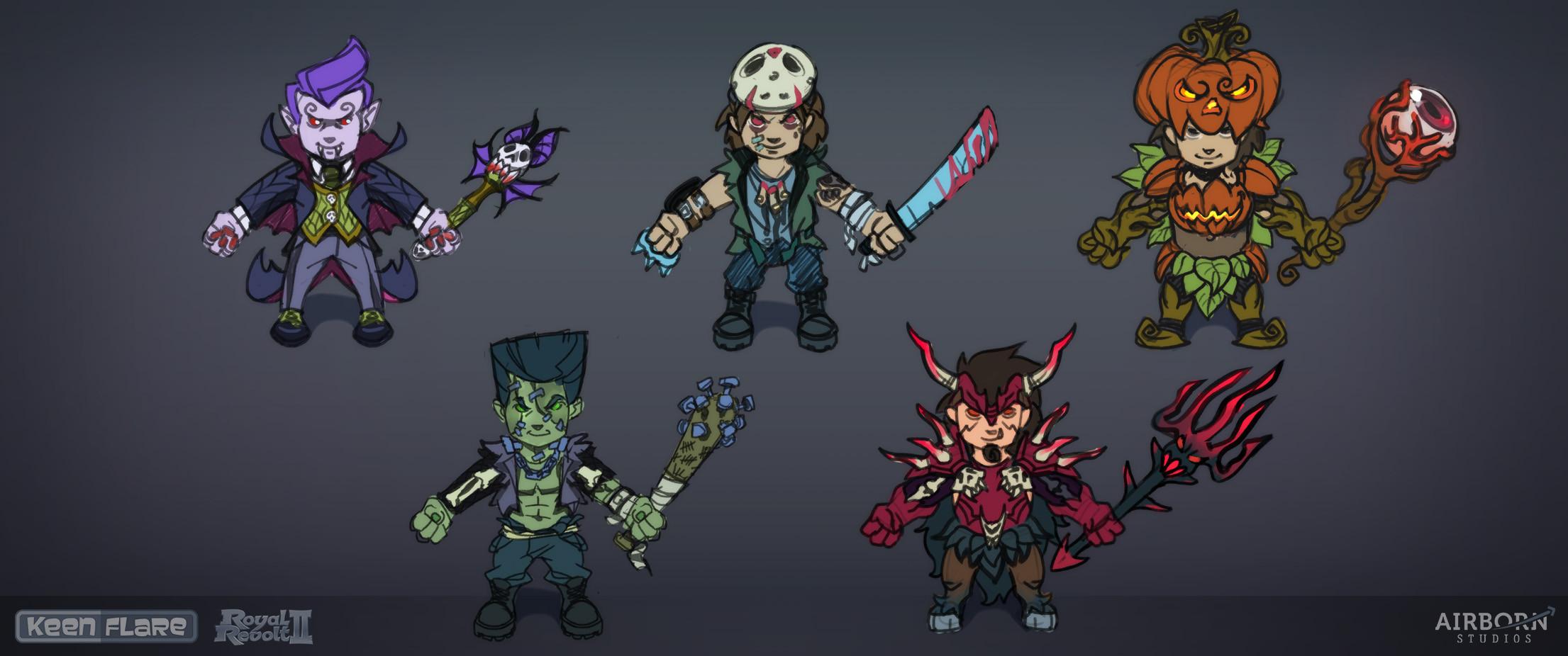 Royal Revolt 2: Halloween hero set (first proposals)