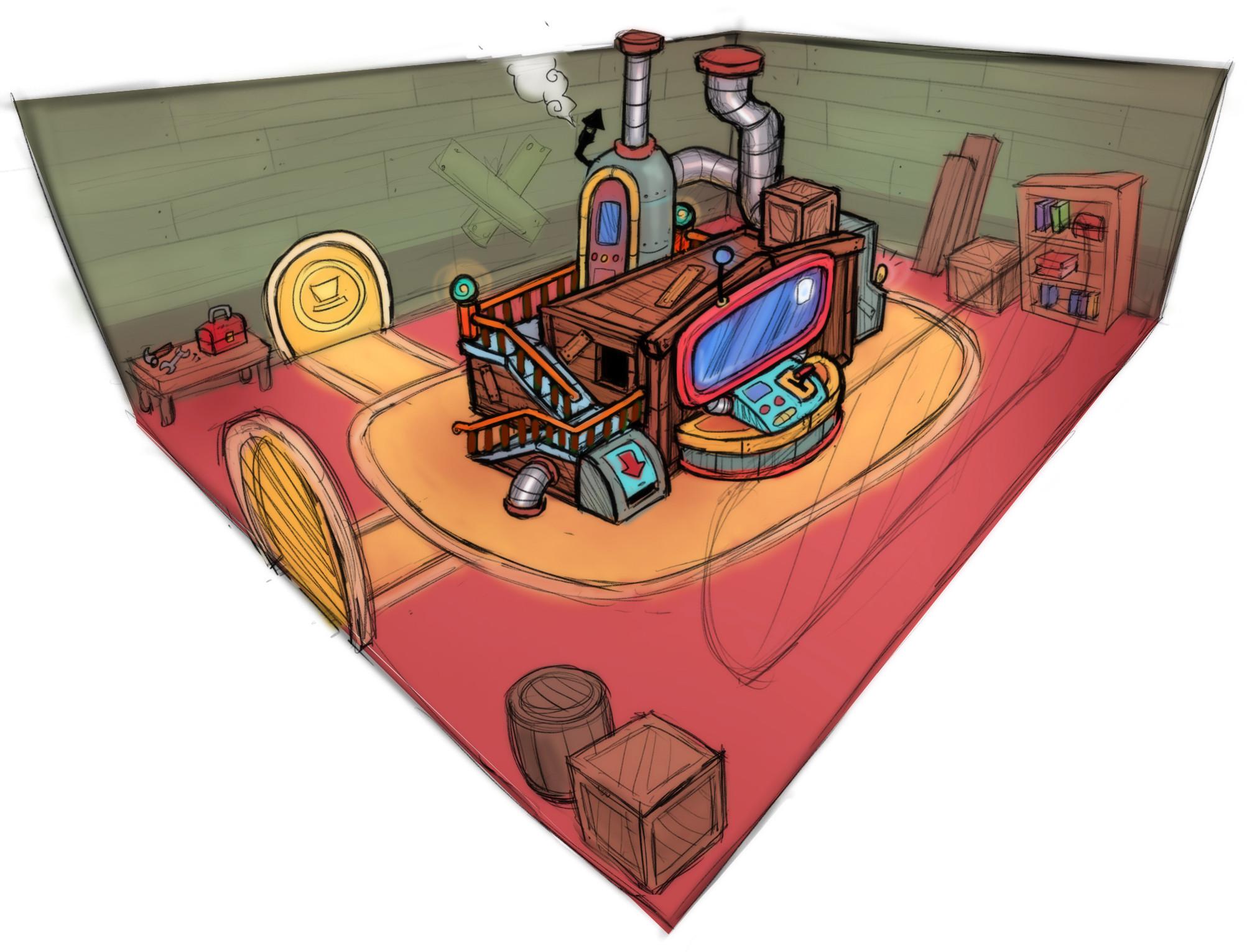 Hat Kid's Spaceship - Engine Room