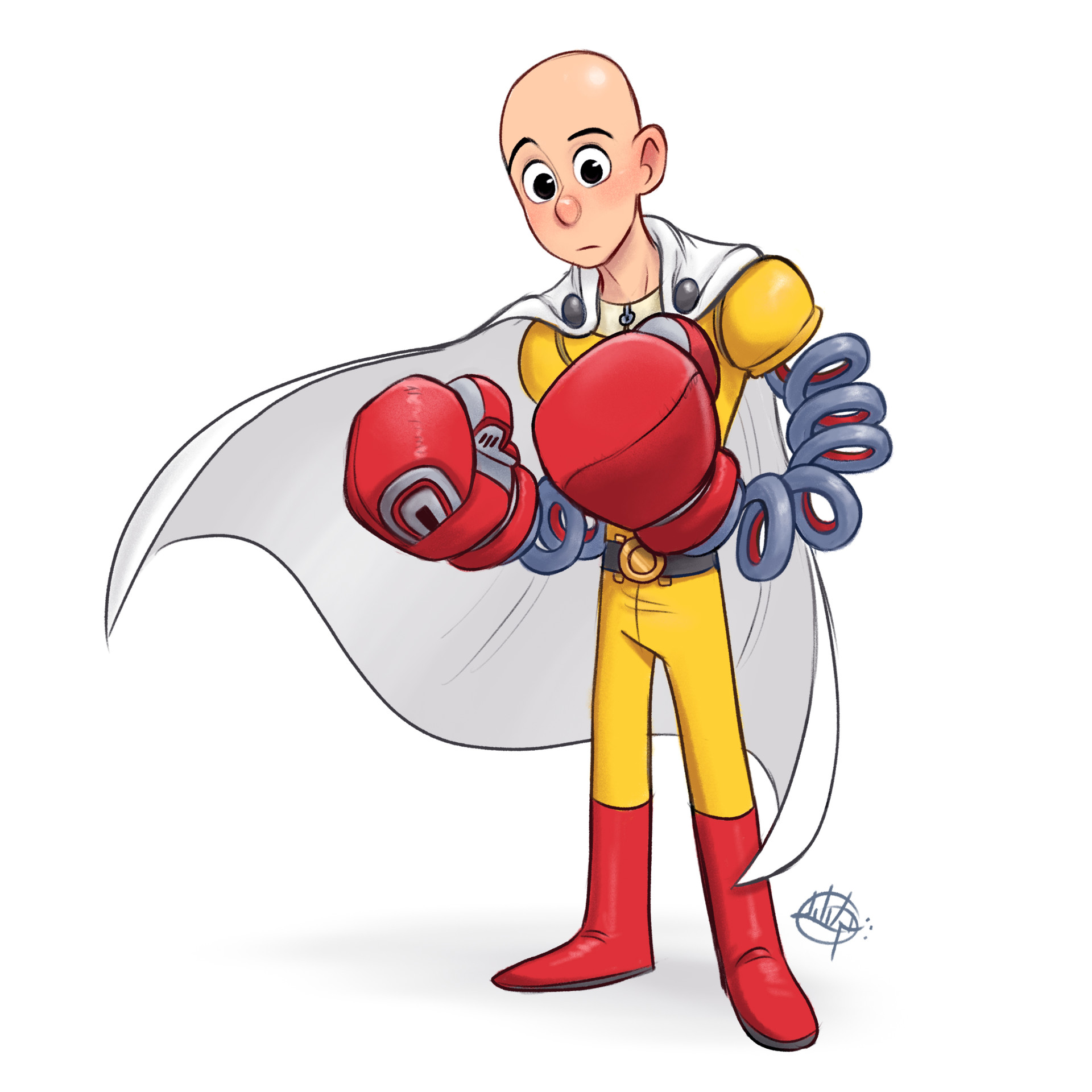 Luigi lucarelli one punch man x arms