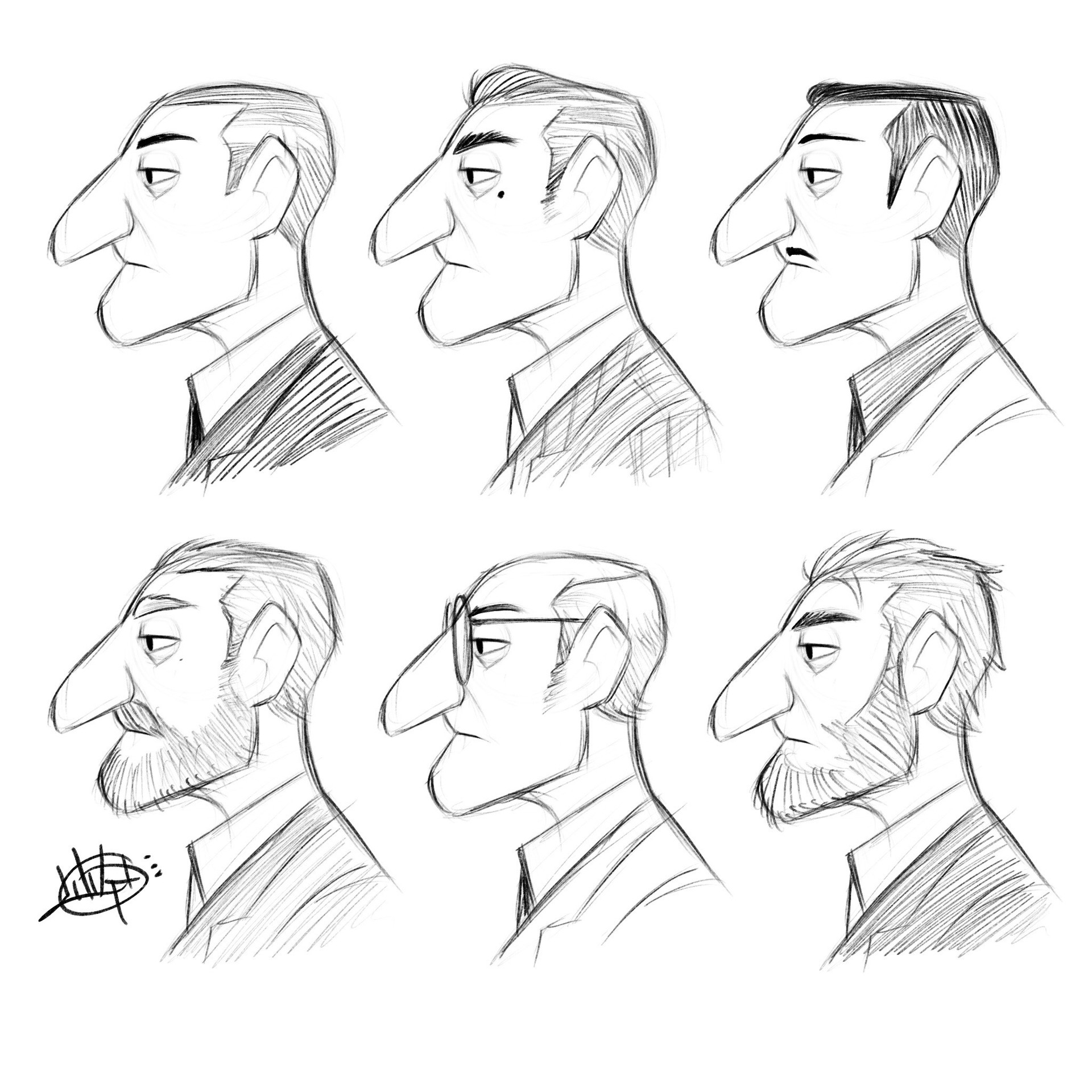 Luigi lucarelli profile character variety sketches