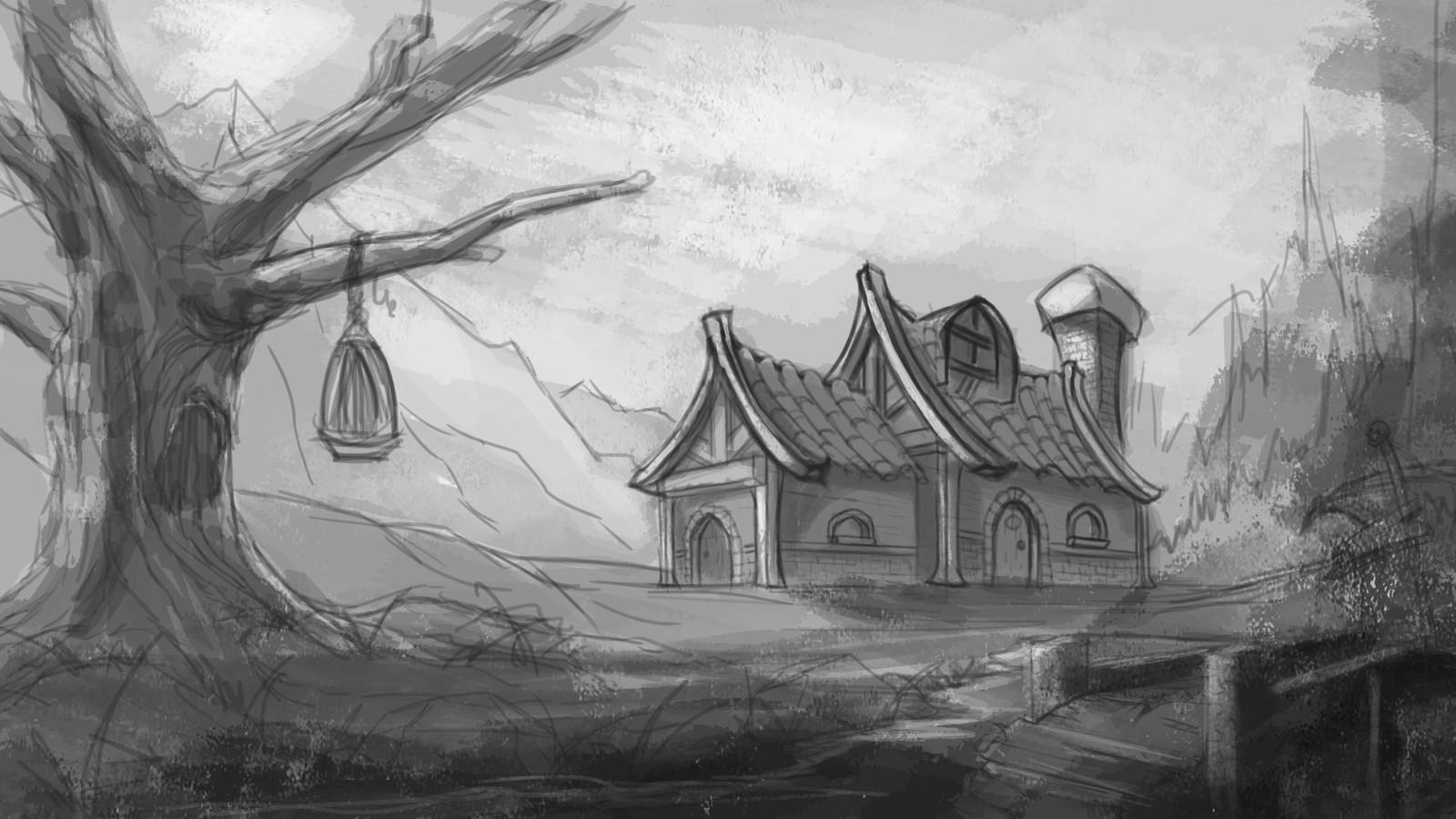 Rough greyscale sketch