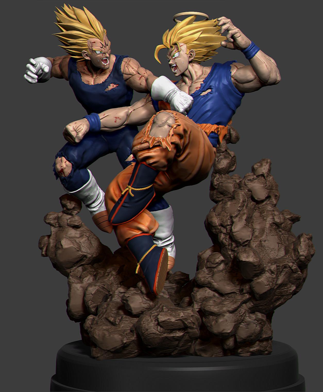 DBZ - SSJ2 Goku vs Majin Vegeta