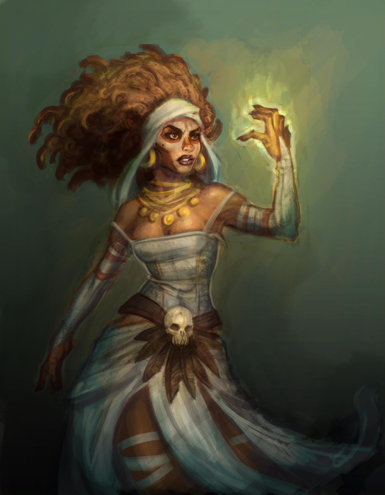 Artstation Voodoo Priestess Ricardo Boronat