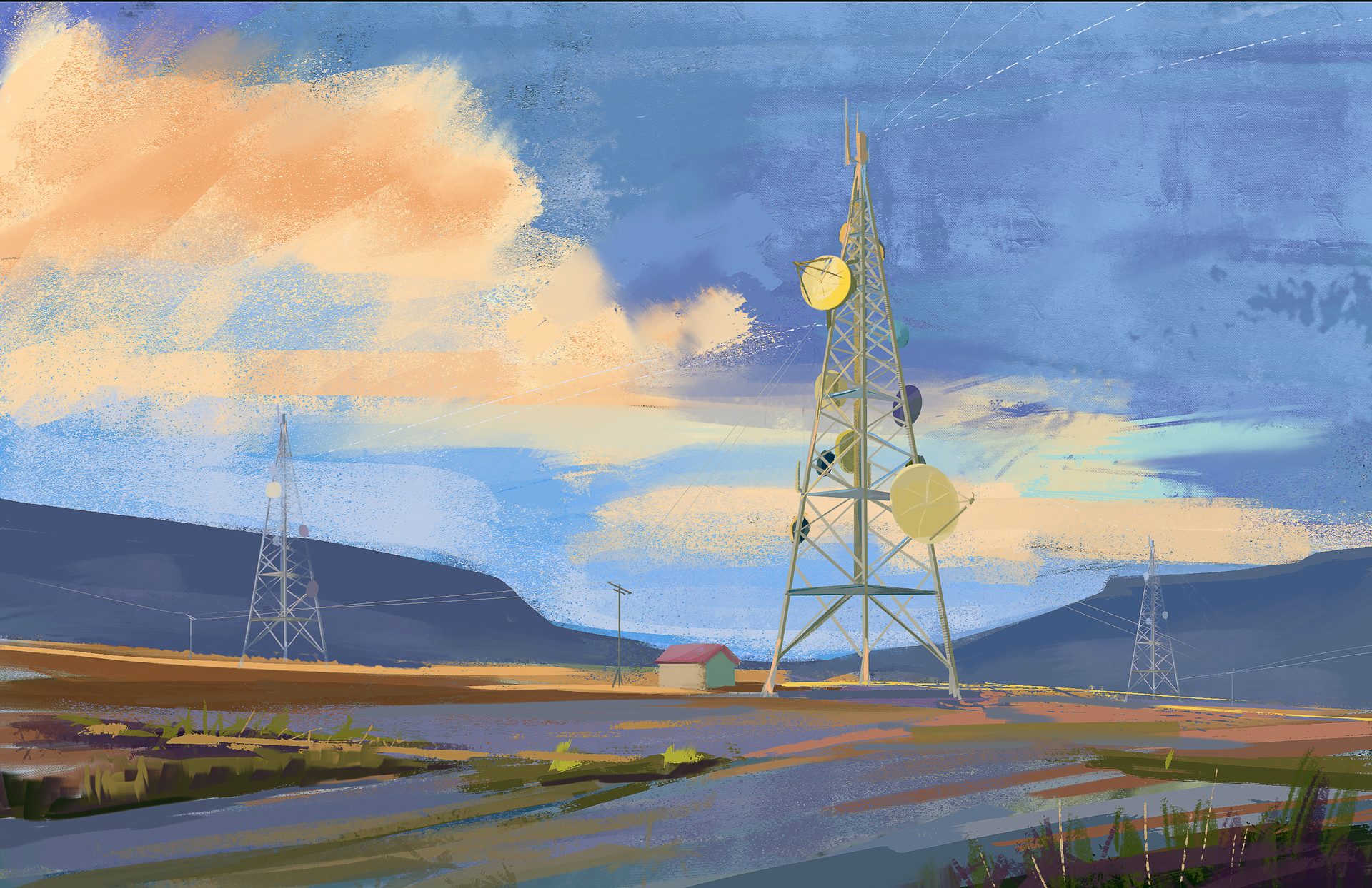 Jack dowell radio tower painting