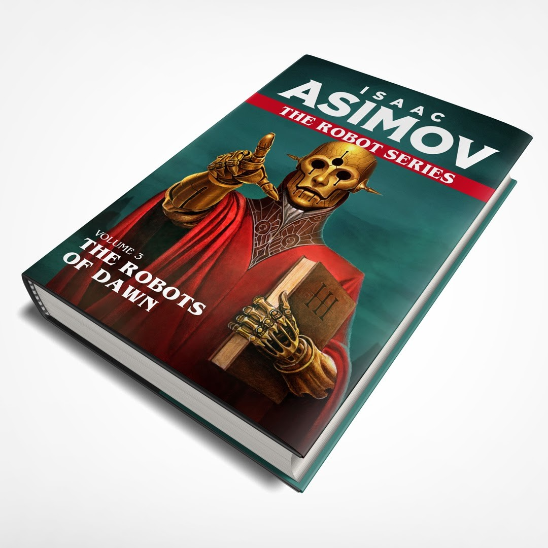 It is a book jacket design, the illustration was based on the Robot Laws by Asimov not directly from the story of the book