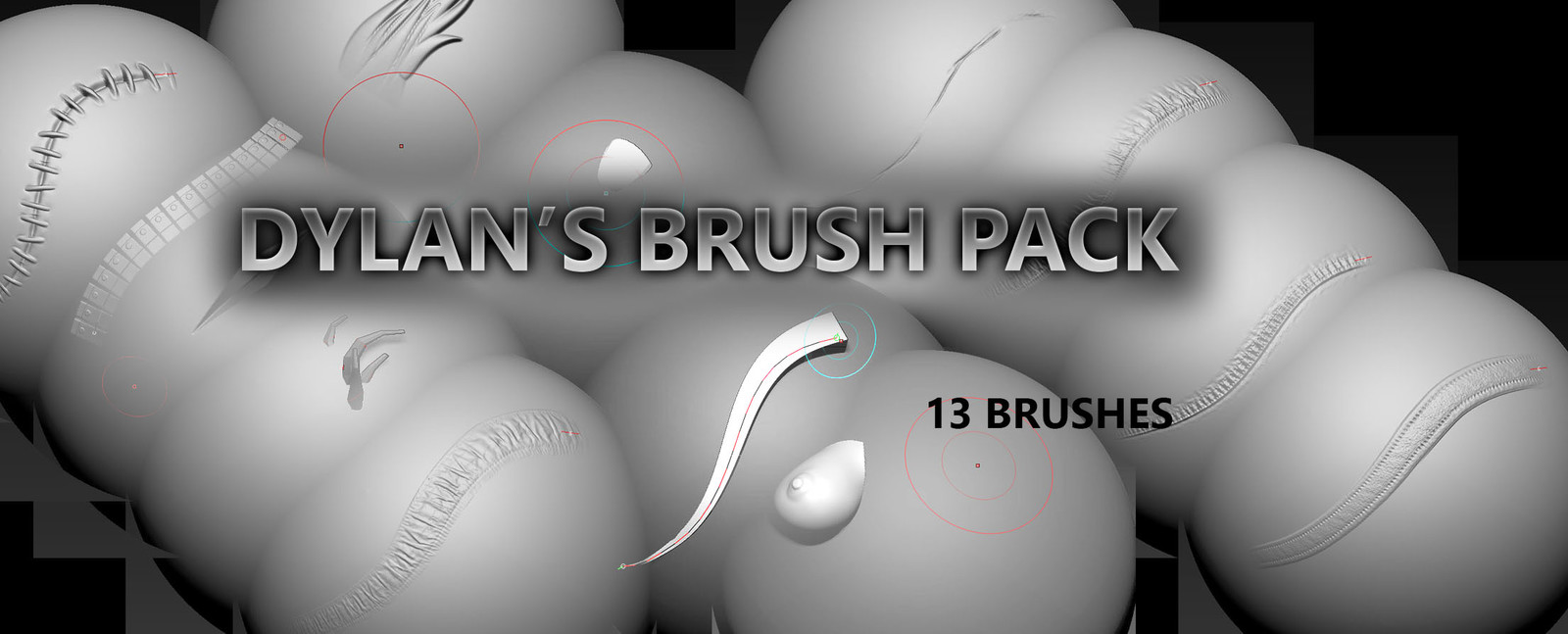 Dylan's Brush Pack - 13 unique brushes for Zbrush