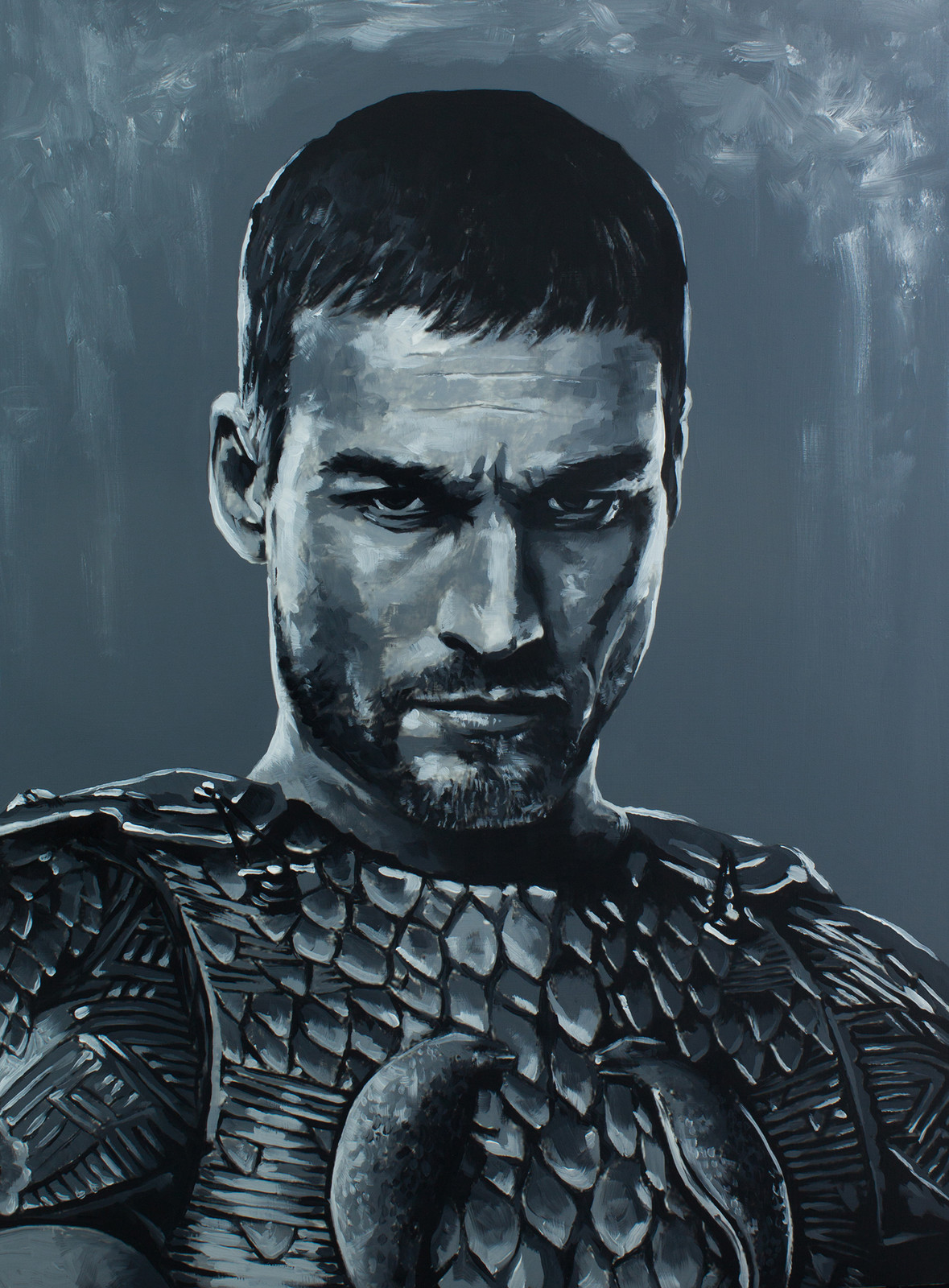 Spartacus - Andy Whitfield Spartacus Series - Acrylic on board.