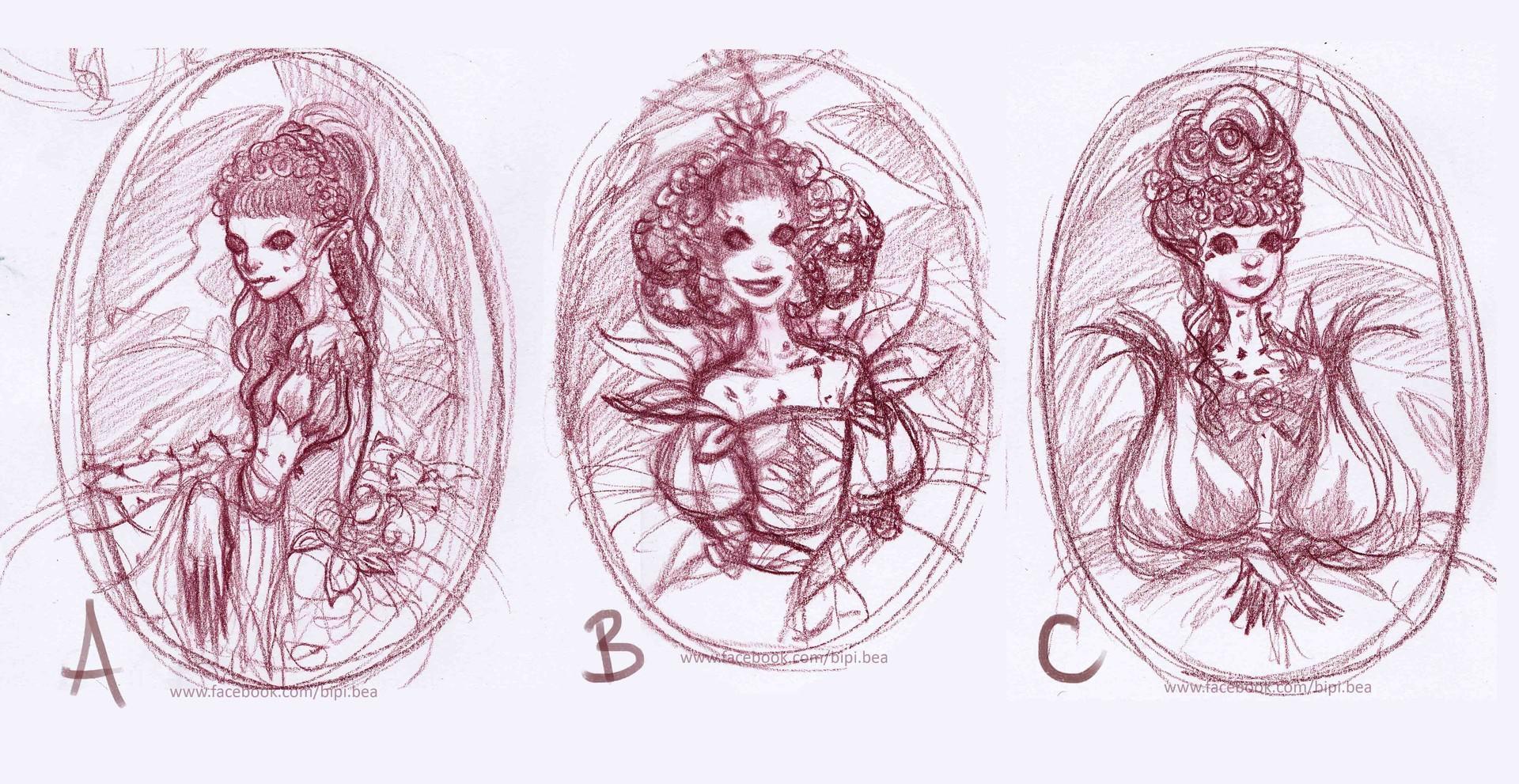 Beatrice pelagatti duchessa di primavera sketches lr
