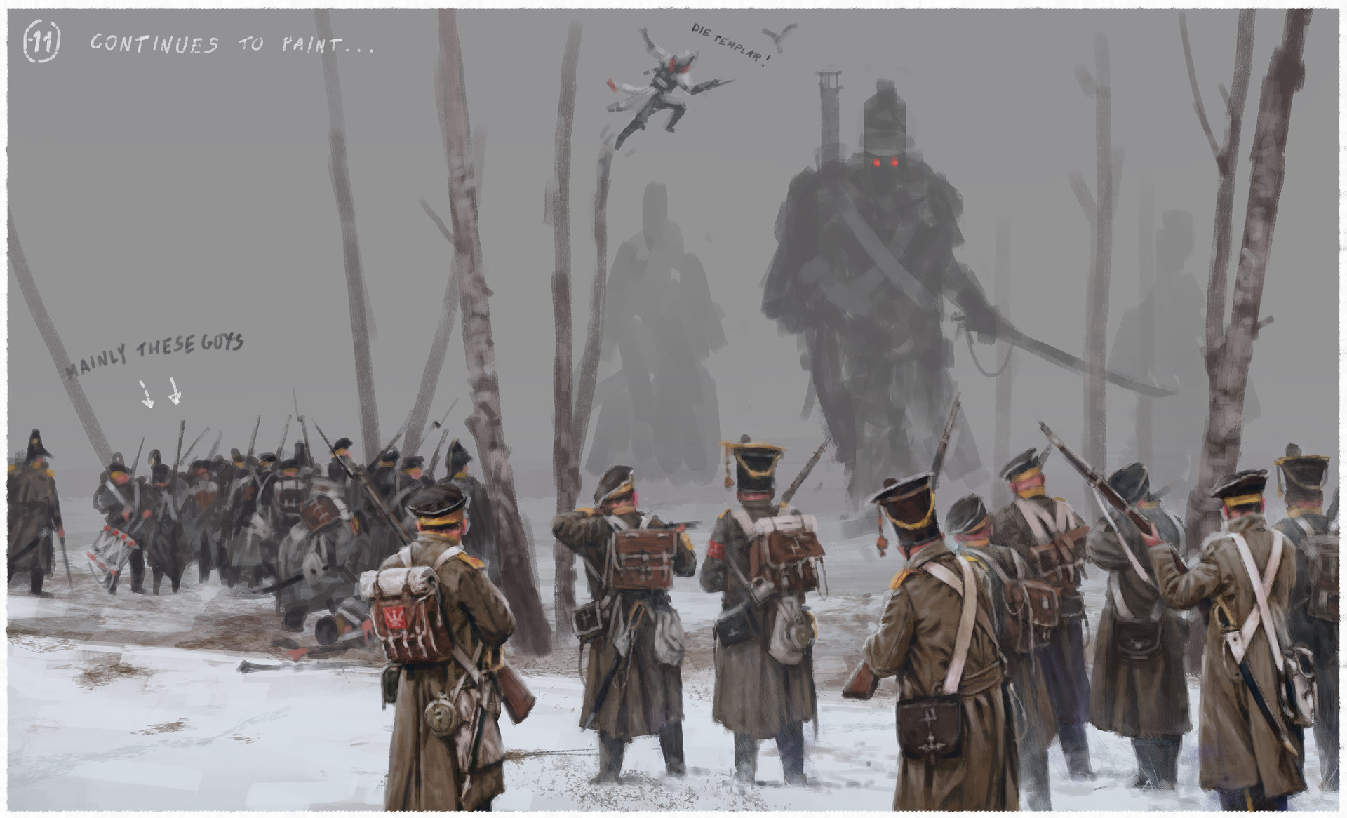 Jakub rozalski olszynka1831 01process05