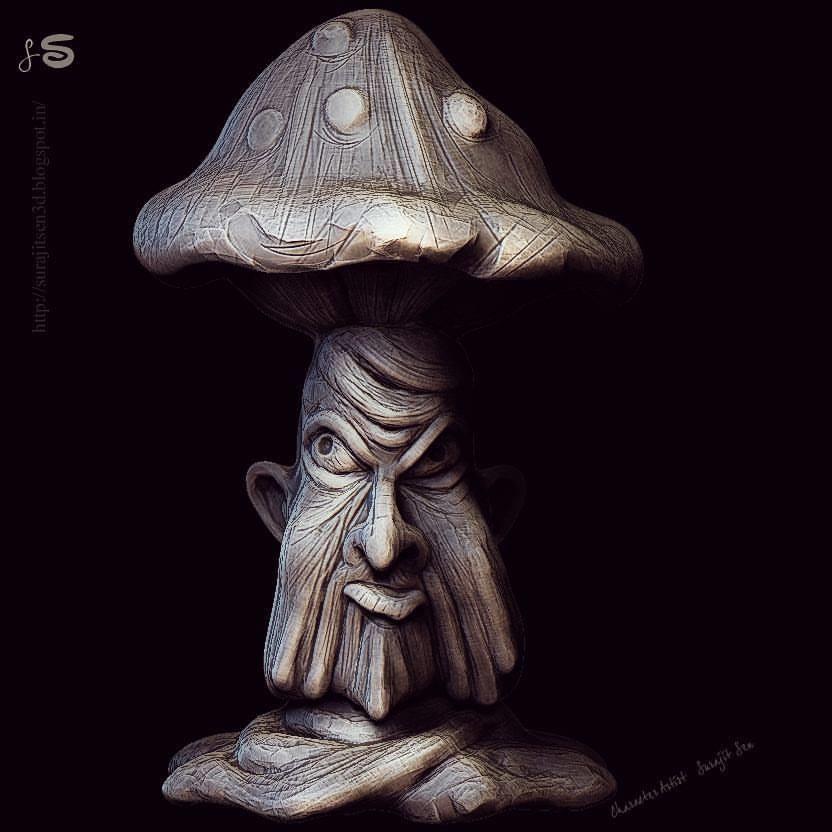Surajit sen frusted mashroom sculpt surajitsen 10112017 insta l