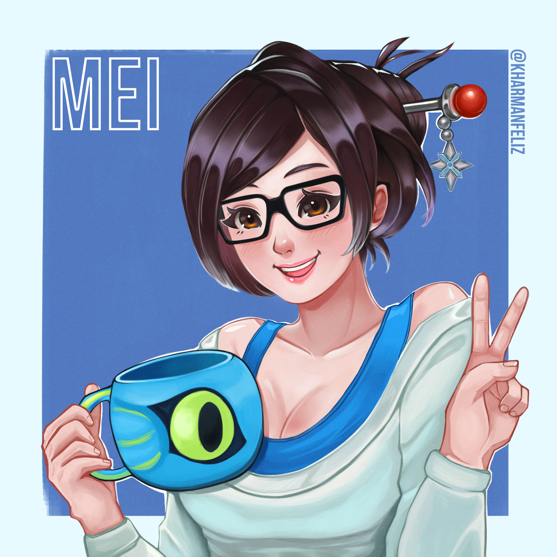 Overwatch what about mei hd 3d pov - 1 3