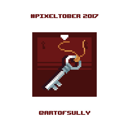 #pixeltober - Day 17 - 'Polished Key'