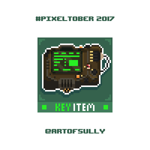 #pixeltober - Day 28 - 'Pip-Boy (Fallout)'