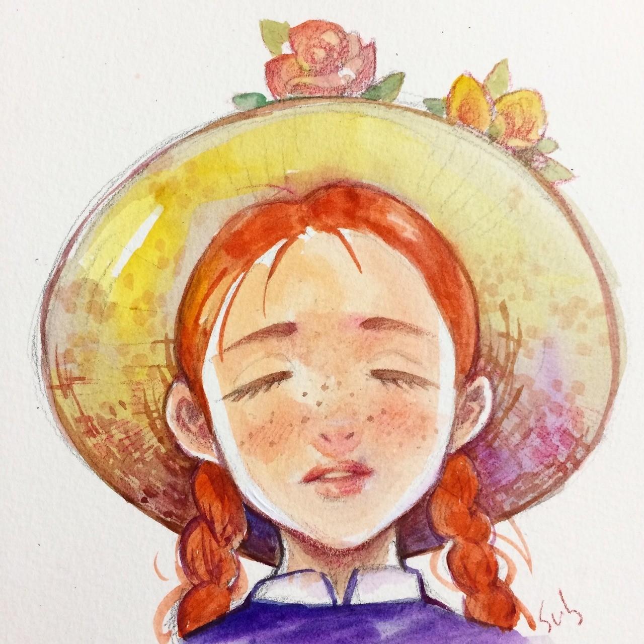 Картинка девочки энн