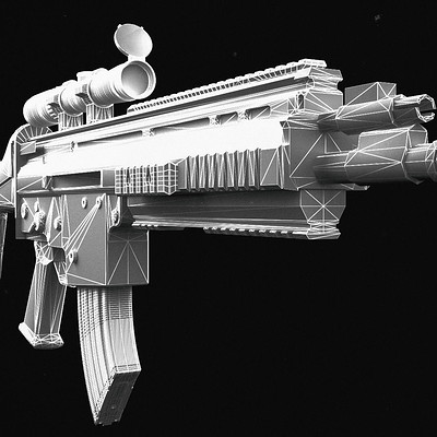 Mohamed hassen foux msbs weapon model 3d model low poly max 3ds 1